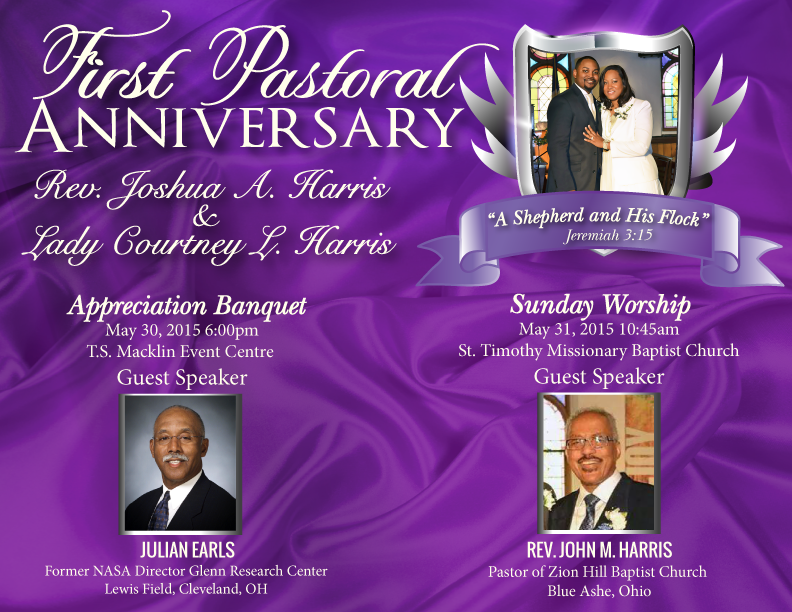 Pastor Anniversary Banquet – Macklin Party Center – Walton Hills, OH